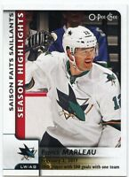 17/18 O-PEE-CHEE OPC SEASON HIGHLIGHTS #557 PATRICK MARLEAU SHARKS *39170