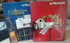 La musique. Les hommes, les instruments, les oeuvres. Larousse. 1965. 2 tomes.
