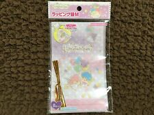 NEW Sanrio Little Twin Stars Wrapping Bags and Gold Tie/Gift Bags M size 8p F/S