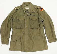 Field Jacket M51 Sateen OG 107 Vintage 1950s Vtg Korean War Patch 50s M-1951