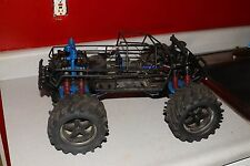 vintage traxxas e-maxx rc car truck r/c roller chassis parts lot rpm 3906