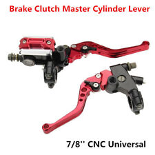 Universal Red CNC Motorcycle 7/8'' Brake Clutch Master Cylinder Lever Reservoir