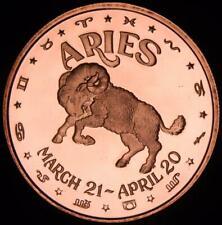 1 oz Copper Round - Aries