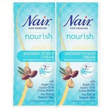 2x Nair Nourish Shower Power Cream Sensitive Hair Remover Cream Sachets 30ml