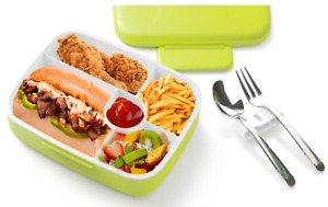 Leakproof School Food 5 Compartments Lunch Box Container 1.3L BPA Free