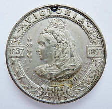 "1897 QUEEN VICTORIA ~ DIAMOND JUBILEE ~ CANADA CONGRATULATES HER QUEEN ~ 1-3/8"""