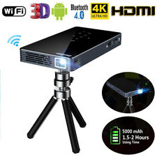 4K Smart DLP Mini Projector Android WiFi Bluetooth 1080P 1+8G Home Theater HDMI