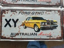 XY FORD GTHO III Number Plate Style 3D Tin Metal Sign NEW Man Cave Garage Bar