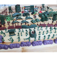 500pcs Action Figures 4cm Army Men Soldier Playset with Tanks Planes Flags