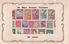 France-Germany-India Pre-1924 stamp packets 75 stamps total ~