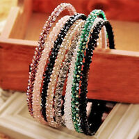 Women Crystal Hair band Bling Headband Bead Rhinestone Headwear Wedding Jewelry