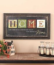 Home Country Primitive Americana Inspirational Wall Art Rustic Hanging Decorativ