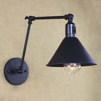 Industrial Retro Vintage Adjustable Swing Arm Light Wall Lamp Sconce with Switch