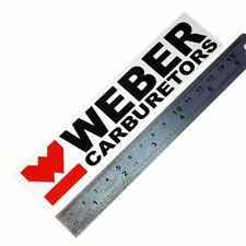 Weber carburetors laminated sticker white big