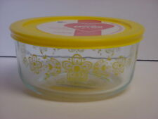 Pyrex Yellow Butterfly Gold Pattern 4-Cup Limited Edition Storage Bowl & Cover