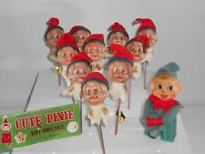 PIXIE ELVES 10 NEW CUTE PIXIE CRAFT / FLOWER PICKS 1 KNEE HUGGER PIXIE ELF CUTE