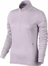 Nike Women's Thermal 1/2 Zip Pullover S Top Lilac Purple Gym Casual Golf Sweater