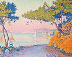 Golfe Juan Paul Signac Seascape with Yachts Fine Art Print on Canvas Small 8x10