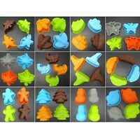 4x Silicone Fondant Biscuit Mould Cake Decorating Cookie Baking Mold Sugarcraft