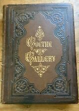 GOETHE GALLERY Illustrated Leather Antiquarian Book 1870 RARE