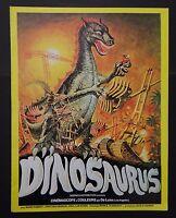 DINOSAURUS Dinosaure scenario pressbook film cinéma poster affiche