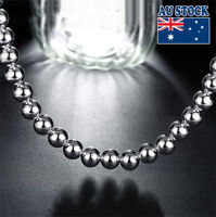 Men's Women's Wholesale 925 Sterling Silver Filled 51CM 10MM Ball Bead Necklace