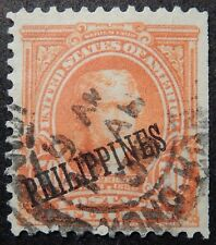 PHILIPPINES # 236 w HONG KONG / CHINA Cancel - SCARCE as such 50c OVERPRINT !!