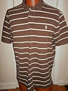 POLO by Ralph Lauren XL Brown Striped Polo Shirt.