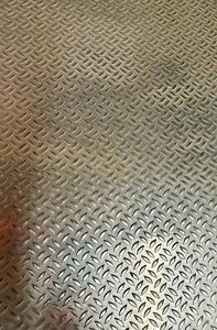 Tread Plate,Grip sheeting, Aluminium sheet no'92 500 x 250mm x 1.2/1.7mm thick
