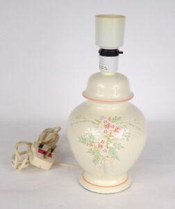St Michael Ceramic Porcelain Lamp Base - Floral - Off White