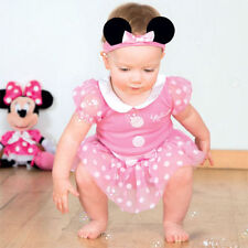 DISNEY MINNIE MOUSE PINK JERSEY SUIT 3-24 mths baby toddler fancy dress costume