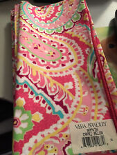 Vera Bradley One Capri Melon Dinner Fabric Napkin New NWT Pink multi paisley