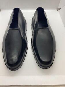 Totes Mens Sz US L Black Rubber Overshoes Loafer Rain Snow Dress Shoes Cover