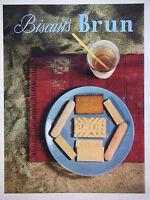 PUBLICITÉ DE PRESSE 1953 BISCUITS BRUN - ADVERTISING