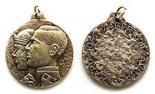 Medaglia Comm. Maria Josè'-Umberto Di Savoia Metallo Argentato Diametro cm 3