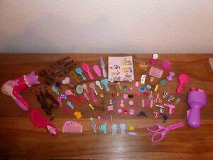 Barbie=Badezimmer=Utensilien=Makeup=Haar Extensions=Zubehör=Konvolut=Bad