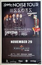 "ISSUES / I KILLED THE PROM QUEEN ""NOISE TOUR 2014"" SAN DIEGO CONCERT POSTER"