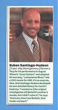 "TV's ""Castle"", Ruben Santiago-Hudson in 2011 Magazine Print Clipping"