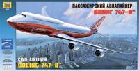Zvezda Civil Aitliner Boeing 747-8 Bausatz Kit Flugzeug 1:144 Art 7010