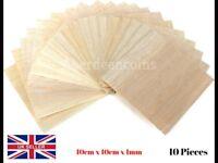 10 x 100x100x1mm Wooden Plate Balsa Wood Sheets Railway Dolls Arts Craft Model