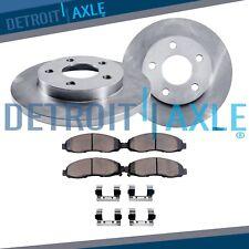 Rear Disc Brake Rotors & Ceramic Pads for 2011 2012 Chevrolet Chevy Impala