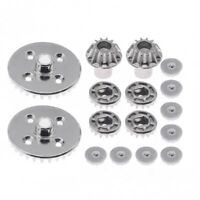 RCAWD Steel Front Rear Differential Gear Set For RC Car 1/14 Wltoys 144001 Buggy