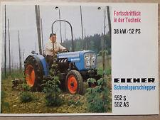 Original Eicher Prospekt Traktor 552 S 552 AS