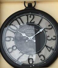 Large Elegant Edinburgh CLOCK Pocket Watch Shape WALL CLOCK Railroad London. NEW