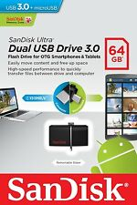 Pendrive Sandisk Dual Drive 64 GB USB 3.0 y MicroUSB Movil Tablet Memoria Ultra
