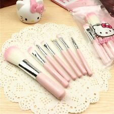 7pcs/sets Hello Kitty cute cartoon Pink Makeup brush With KT Packaging bag New