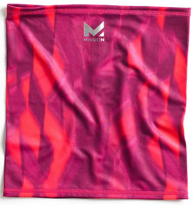 MISSION Unisex-Adult HydroActive MAX Fitness Multi-Cool Neck Gaiter Cherry Pink