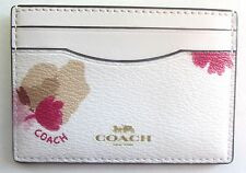 Coach 86925 ~ FIELD FLORA CARD CASE Holder ~ Chalk Floral ~ NWT