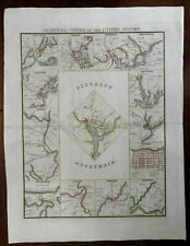 Cities of the United States Washington D.C. Boston New York Portland 1840s map
