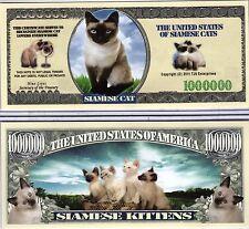 The Siamese Cat - Cat Series Million Dollar Novelty Money